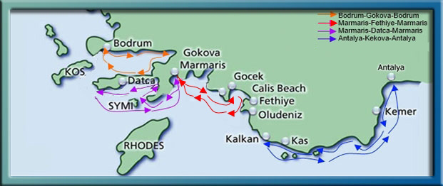 Turkish Coast Map