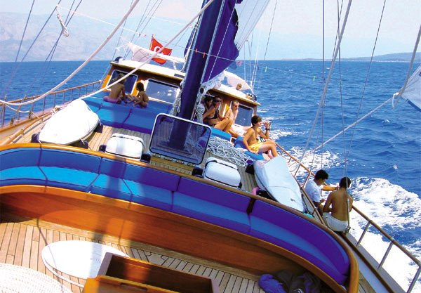 Gullet boat charters in Turkey