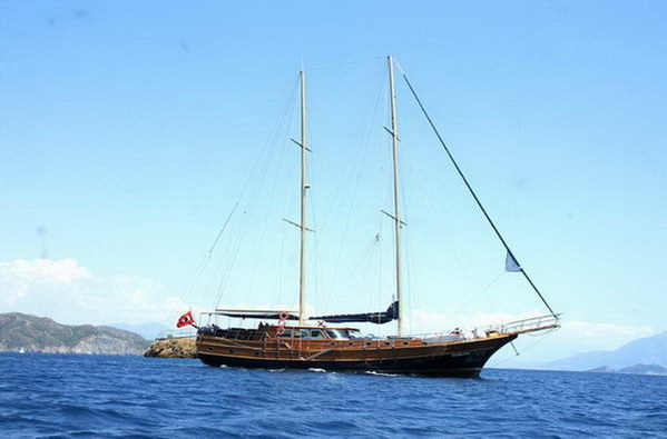 Turkey gulet boat sailing